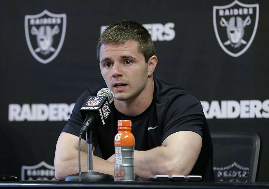 Oakland Raiders wide receiver Ryan Switzer talks to reporters after practice at the NFL football team's minicamp Wednesday, June 13, 2018, in Alameda, Calif. Switzer was acquired from the Dallas Cowboys in exchange for Raiders defensive lineman Jihad Ward. (AP Photo/Rich Pedroncelli) Photo: Rich Pedroncelli / Associated Press