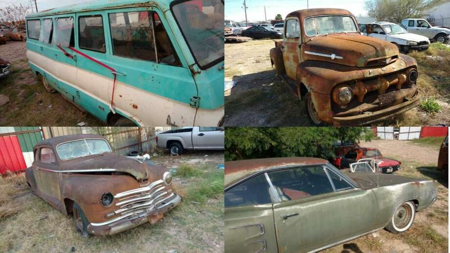 Laredo police said they have recovered the four vehicles seen in these photos. A miscommunication led the owner to report the classics as stolen. Photo: Courtesy Photo /Laredo Police Department