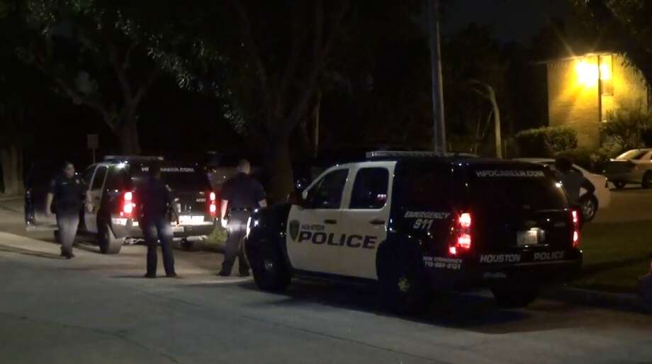 Three people were shot on Jorine in southwest Houston on Thursday, June 14, 2018. Photo: Metro Video