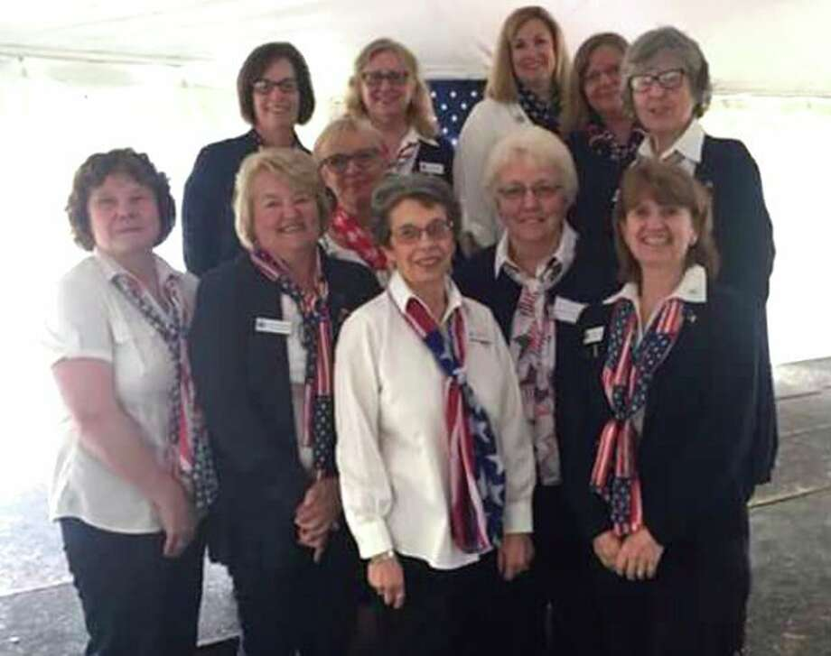 The Thumb Chapter 178 Blue Star Mothers were recently honored by Thumb Bank and Trust and Pat Essian from Raymond James. Pictured are (front row from left): Sherrie Lalonde, Lynne Tschirhart, Linda Elandt, Donna Wolschleger, Chapter President Marcia Janik; (Middle row): Deb Robinson; (Back row): Debbie Decker, Pat Rogers, Nic Schneider, Julie Hund, Grace Rosenthal. (Submitted photo)