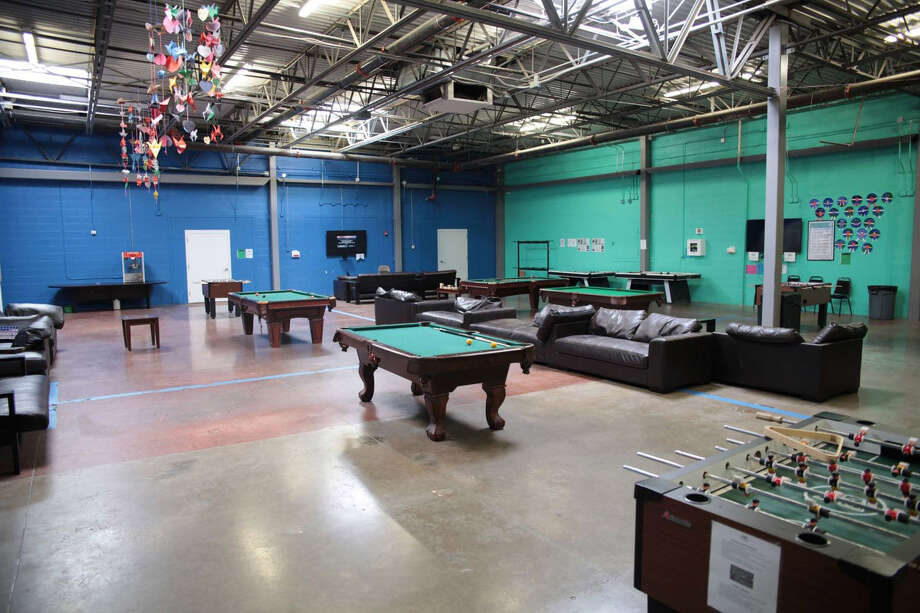 Children can play pool and foosball in a rec room at Casa Padre. Photo: U.S. Department Of Health And Human Services / The Washington Post