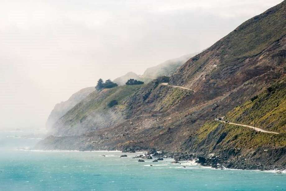 Highway 1 at Mud Creek south of Big Sur will reopen by the end of July, Caltrans said. Photo: Caltrans