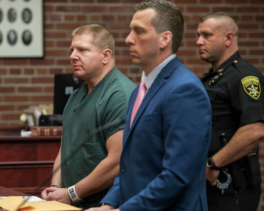 Former Saratoga County Sheriff's Deputy Shawn Glans, left, was in trouble before. He lost his job for slapping a 20-year-old during a traffic stop. (Skip Dickstein/Times Union)