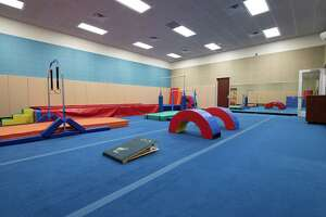 Tumbling area for children at Life Time Athletic Cypress  fitness club on Wednesday, June 13, 2018 in Cypress Texas.