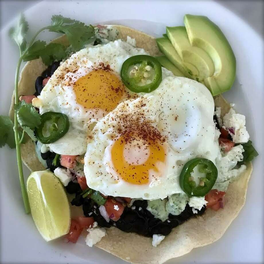 Huevos rancheros are muy bueno at the Driftwood Diner in Darien. Photo: Contributed Photo