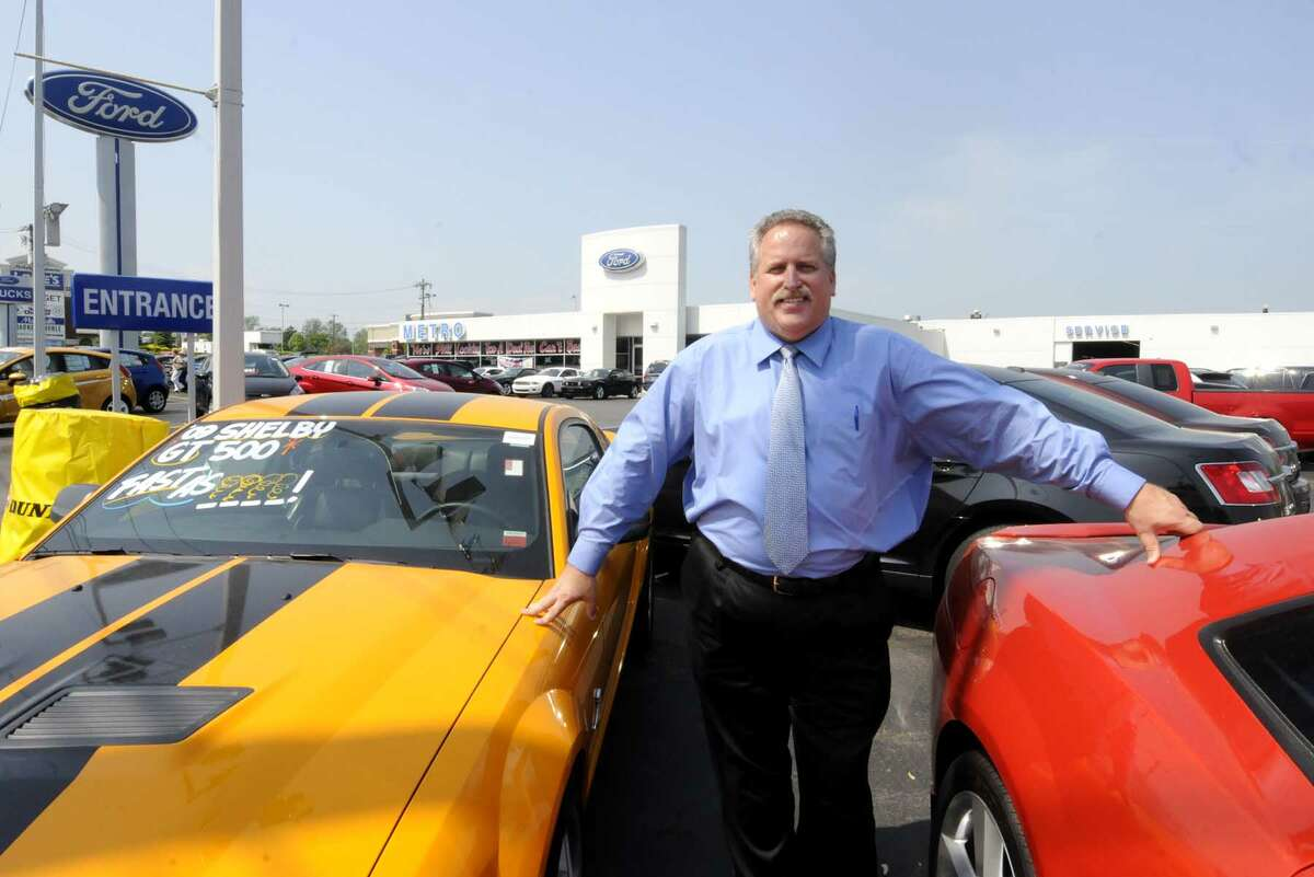 AlJurczynski, former mayor of Schenectady, is selling cars at Metro Ford in Niskayuna, NY Thursday May 26, 2011. (Michael P. Farrell/Times Union )