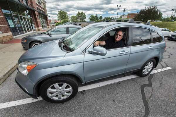 Former Mayor of Schenectady Al Jurczynski smiles from his Uber ride at Mohawk Mall Thursday June 14, 2018 in Niskayuna, N.Y.  (Skip Dickstein/Times Union)
