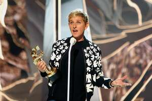 INGLEWOOD, CA - AUGUST 27:  Ellen DeGeneres presents the Michael Jackson Video Vanguard Award onstage during the 2017 MTV Video Music Awards at The Forum on August 27, 2017 in Inglewood, California.  (Photo by Randy Shropshire/MTV1617/Getty Images for MTV)