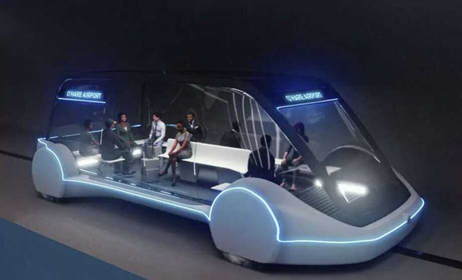 Here's what the Boring Company's proposed 12-minute ride between Chicago and O'Hare airport could look like Photo: The Boring Company