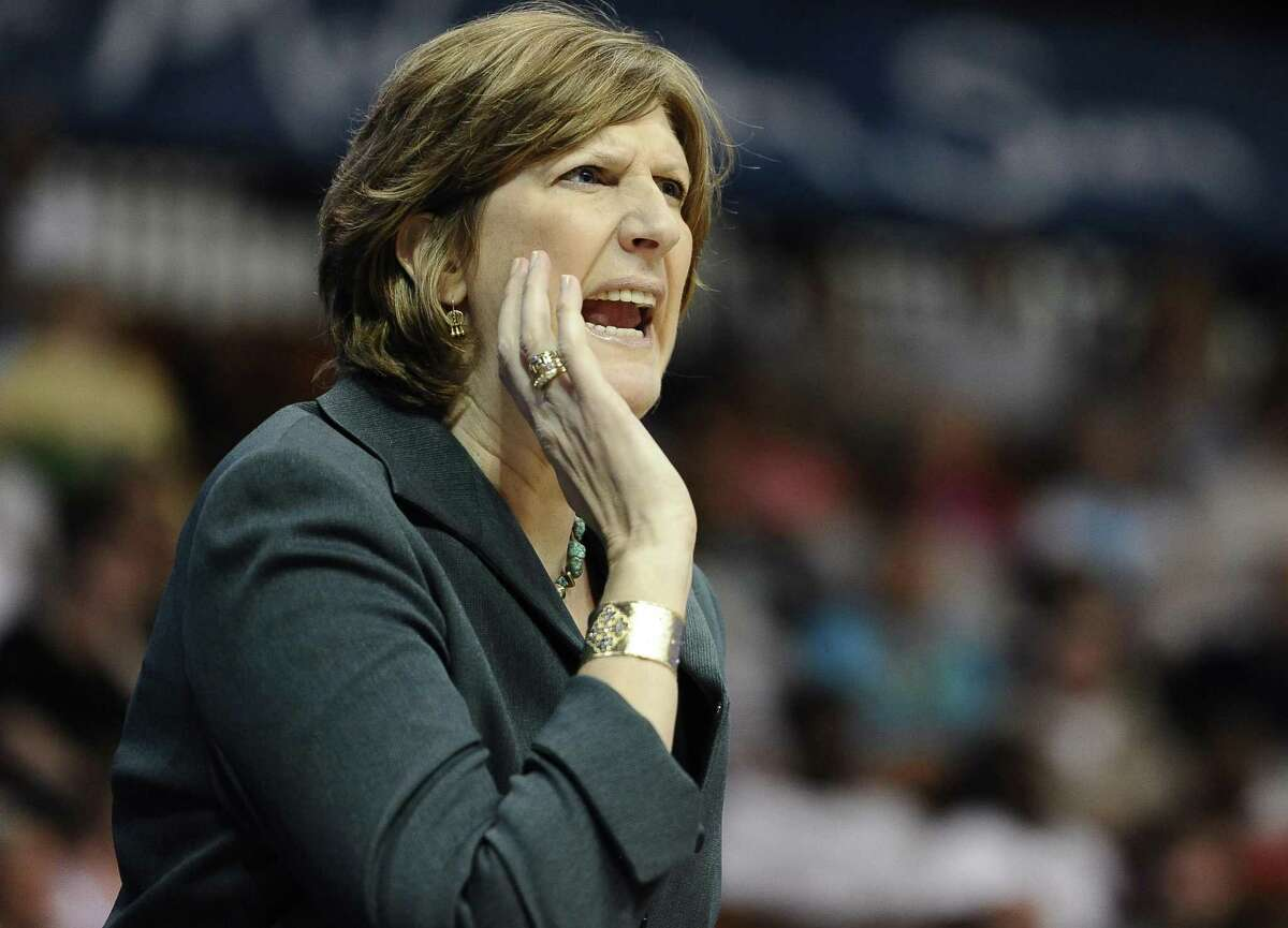 Hall of Famer Anne Donovan, who coached the Connecticut Sun 2013-2015, died of heart failure at age 56 Wednesday. (AP Photo/Jessica Hill)