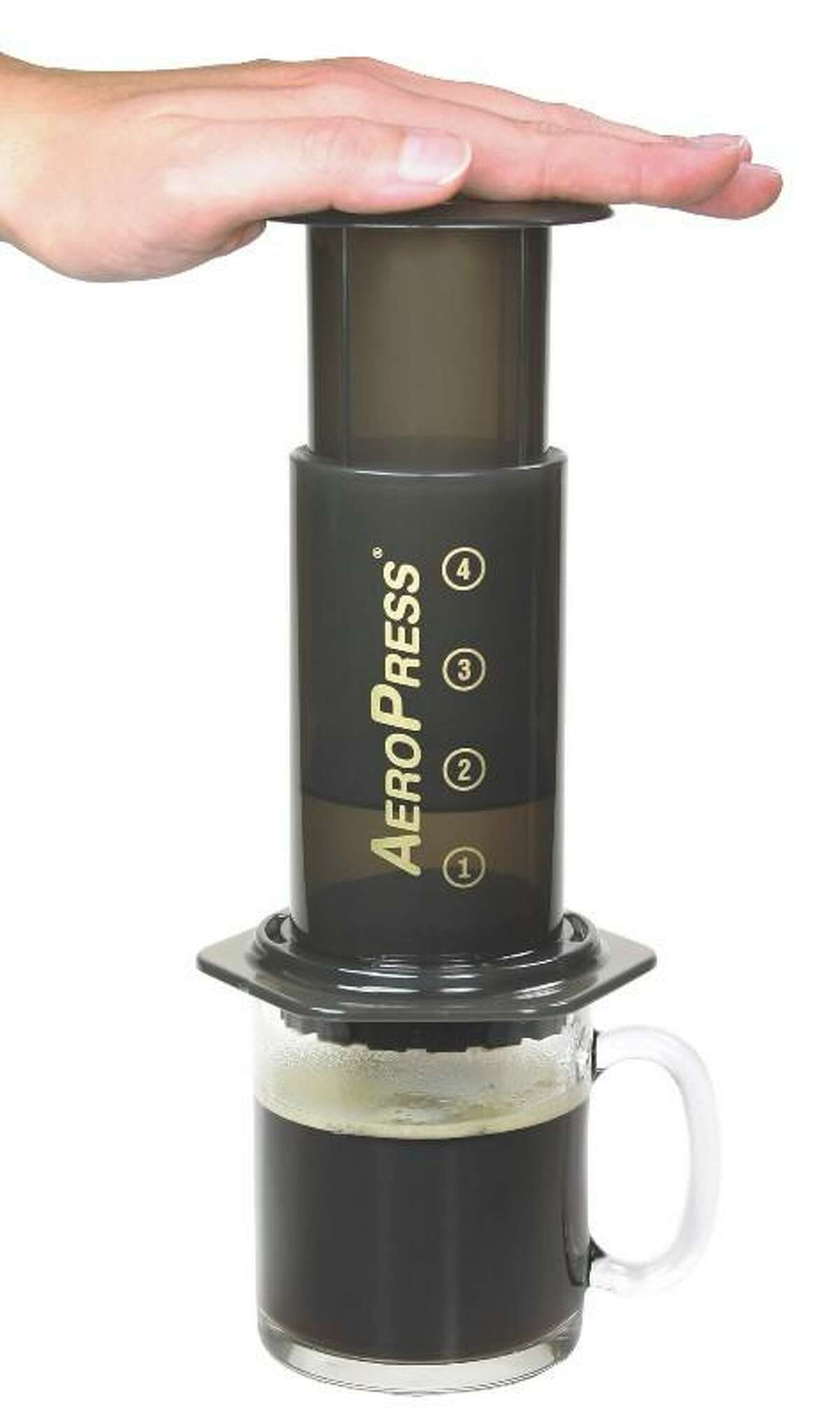 Have a fresh press in the morning with this portable camping coffeemaker from AeroPress.