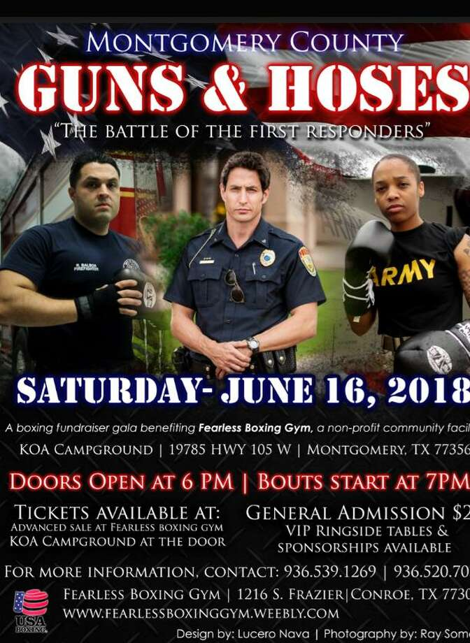Montgomery County police, fire and military members will duke it out in the boxing ring for the inaugural Guns & Hoses benefit on Saturday, June 16.