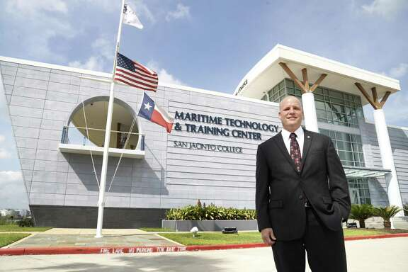 John Stauffer with the San Jacinto College Maritime Technology and Training Center on Monday, June 4, 2018, in La Porte. ( Karen Warren / Houston Chronicle )