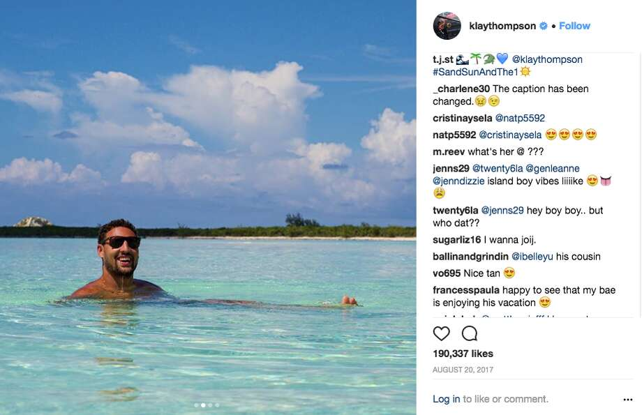 Looking to be as chill as Klay Thompson?  Click ahead to see where he, and other Warriors, vacation around the globe. Photo: Screenshot Via Twitter