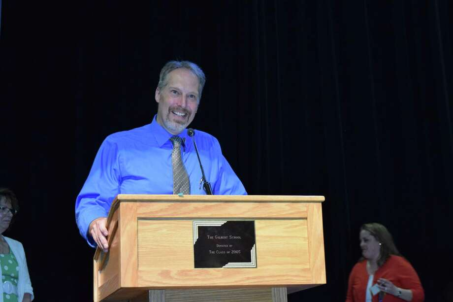 Music teacher Adam Atkins was named Gilbert School's 2018 Teacher of the Year. Photo: The Gilbert School / Contributed Photo