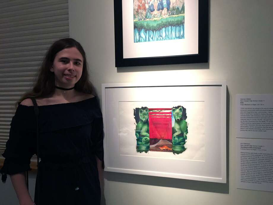 New Canaan High School artist Ann Pakhayev was one of a handful of students selected to exhibit art at the Bruce Museum in Greenwich in the eighth annual iCreate 2018 exhibition, showing through Aug. 12. Photo: C Ontributed Photo