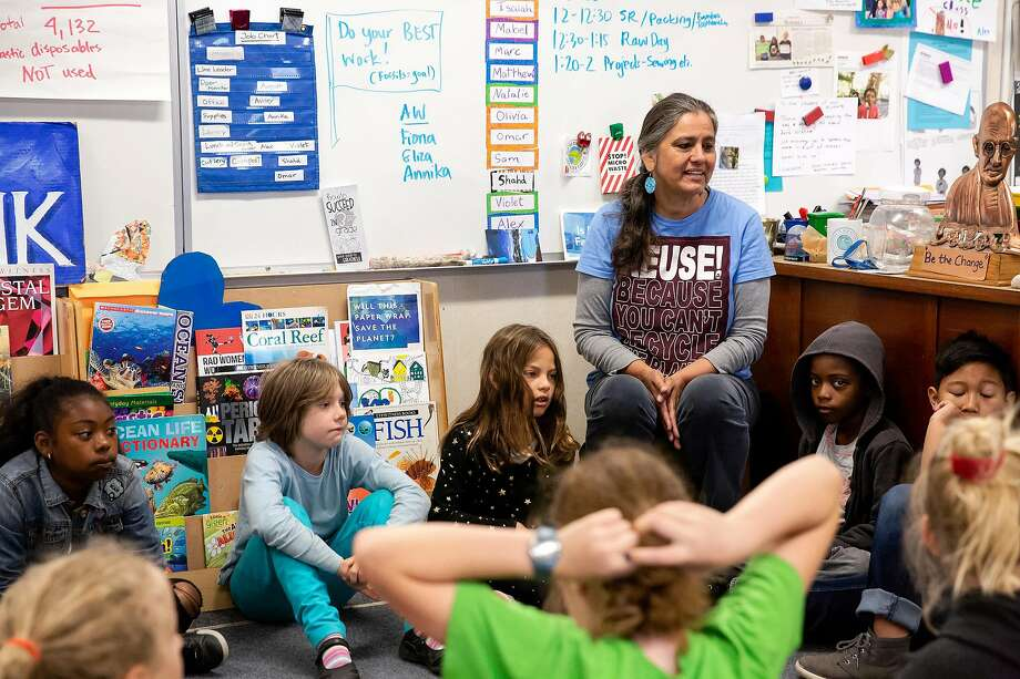 Oxford Elementary in Berkeley, where Jackie Omania's third-grade class is shown, sits close to the Hayward Fault and faces a range of frightening risks in a major earthquake. Photo: Brittany Hosea-Small / Special To The Chronicle 2018
