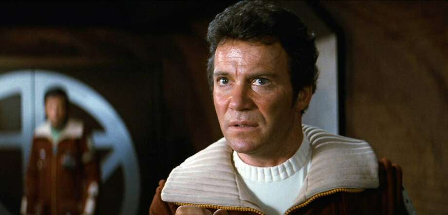 "Screengrab of William Shatner as Admiral James T. Kirk in the movie, ""Star Trek II: The Wrath of Khan."" Photo: CBS Via Getty Images"