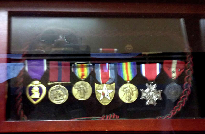 These are some of the medals awarded to WWI hero Jack J. Callahan, Jr. who was only 18 when he died defending Paris from advancing German troops. The anniversary of his death is June 11 and his descendants in his hometown of Troy are hoping U.S. Secretary of Defense Jim Mattis will find a way to honor Callahan. (Provided by family)