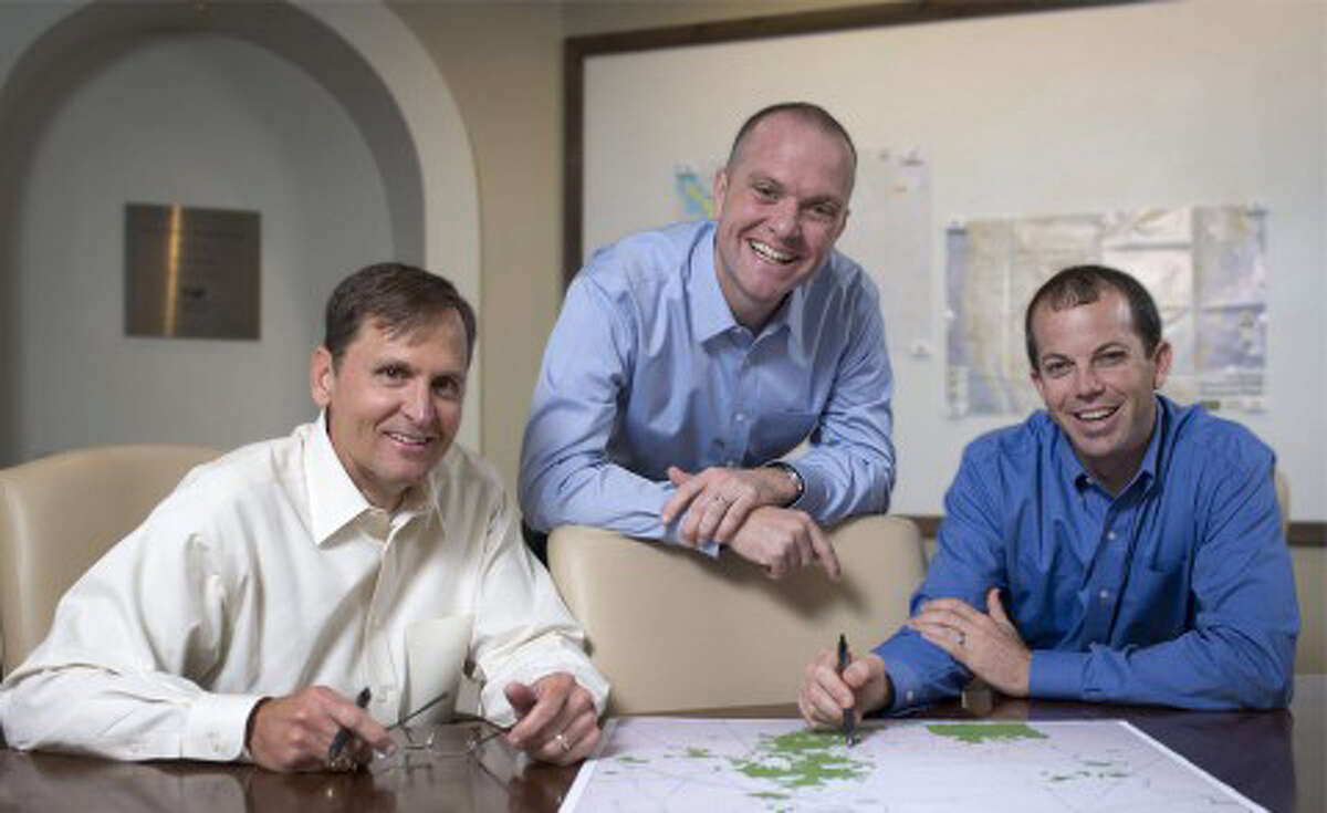 From left are Dennis McCanless, managing director, EnCap Flatrock Midstream, a member of Stakeholder's board of directors, Rob Liddell, principal and co-chief executive officer, and Gaylon Gray, principal and co-chief executive officer, Stakeholder Midstream