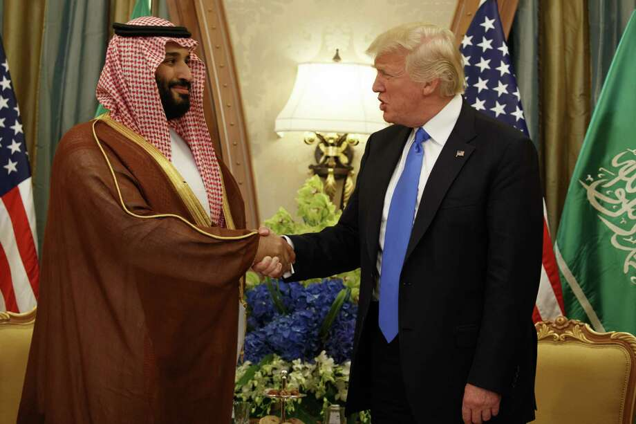 President Donald Trump with Saudi Crown Prince Mohammed bin Salman. Photo: Evan Vucci, STF / Associated Press / Copyright 2017 The Associated Press. All rights reserved.