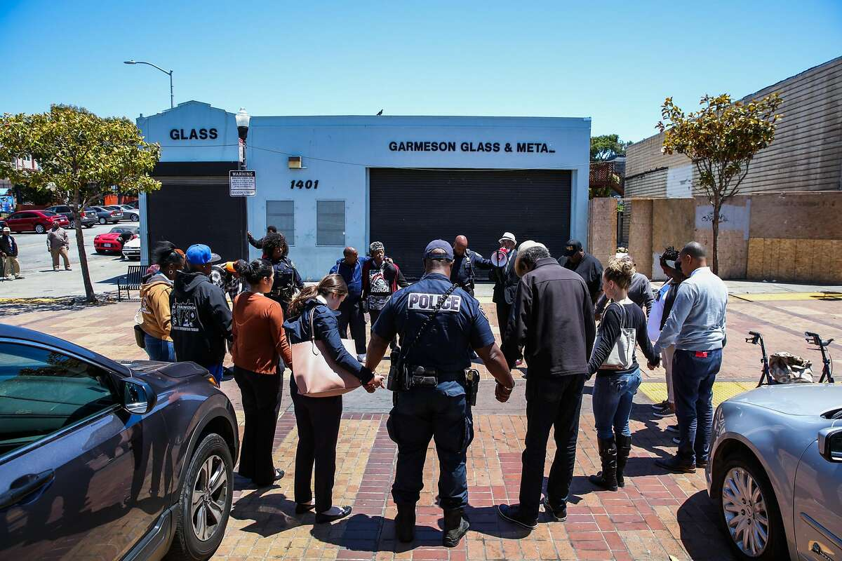 A peace walk and prayer service was held for Jevon Cael who was shot and killed last week in the Bayview in San Francisco, California, on Monday, June 11, 2018.