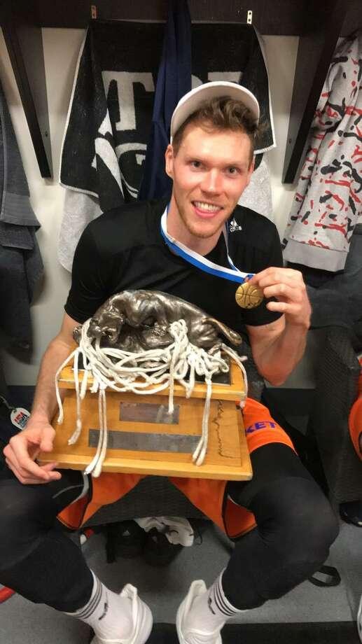 Former Yale standout Greg Mangano recently won a championship with Karhu Kauhajoki in Finland's Korisliiga League. Photo: Submitted