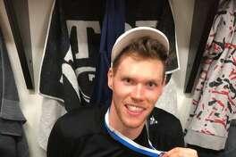 Former Yale standout Greg Mangano recently won a championship with Karhu Kauhajoki in Finland's Korisliiga League.