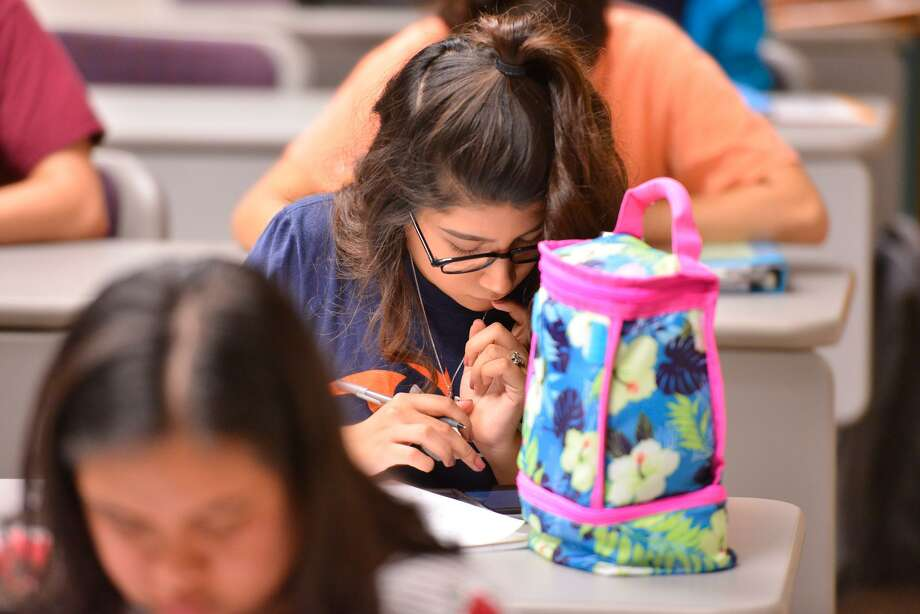 Stephanie Padron  studies during a UTSA Basic Sciences class as part of  a summer school for high school kids in health professional shortage and medically underserved areas to put them on the pathway to pursue a health profession. Photo: Robin Jerstad, Freelance / San Antonio Express News