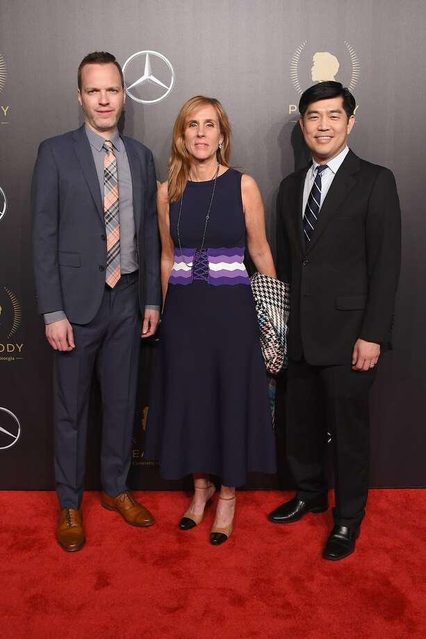 NEW YORK, NY - MAY 19:  (L-R) Amazon Studios Head of Drama Series Marc Resteghini, Head of Amazon Studios Jennifer Salke, and Amazon Studios Co-Head of Television Albert Cheng attend The 77th Annual Peabody Awards Ceremony at Cipriani Wall Street on May 19, 2018 in New York City.  (Photo by Michael Loccisano/Getty Images for Peabody ) Photo: Michael Loccisano, Getty Images For Peabody