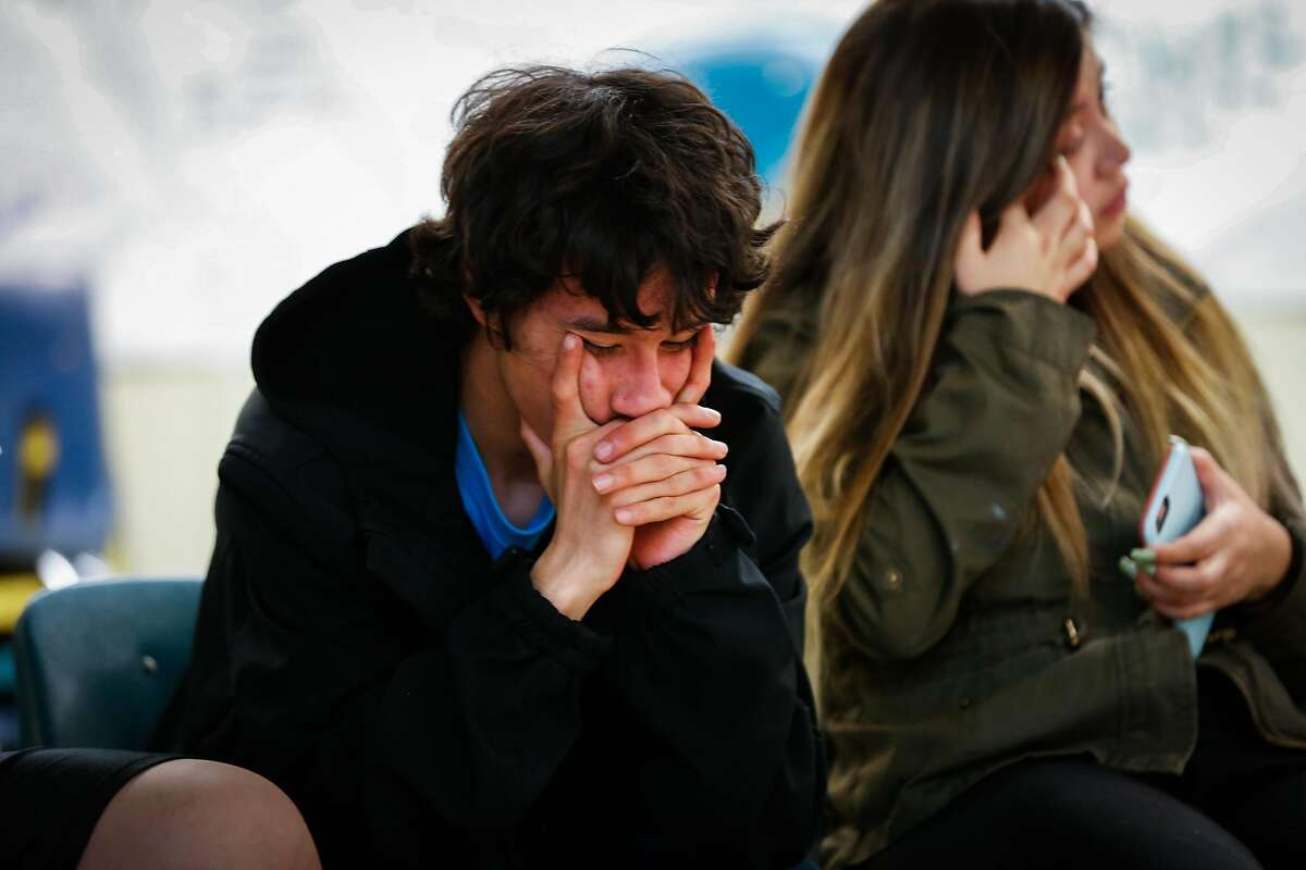 Jonathan Huerta,16, listens during an exercise at Camp Everytown in Boulder Creek, California, on Thursday, Oct. 12, 2017.