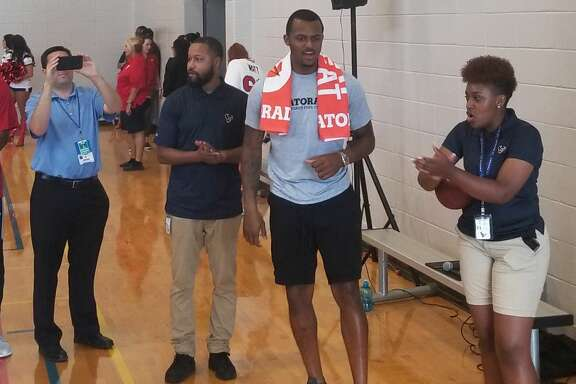 Deshaun Watson conducted a Gatorade Beat the Heat event on Thursday at the Houston Texans YMCA.