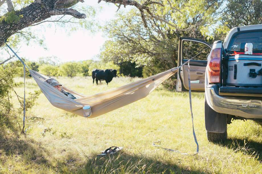 Give Dad a Kammok Roo double hammock and he can kick back on a camping trip or just hang out in  the back yard. $99 Photo: Kammok / Kammok / Travis Perkins Photography