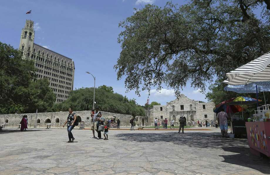 View of the Alamo and the Emily Morgan Hotel on Thursday, June 7, 2018. Photo: Kin Man Hui, Staff / San Antonio Express-News / ©2018 San Antonio Express-News