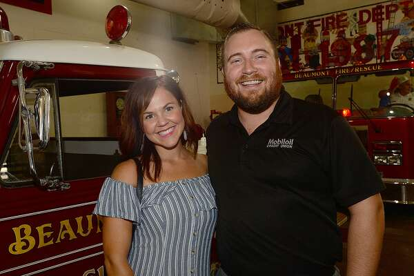Skylar Slaughter and Kellis were at the Heritage Happy Hour held at the Beaumont Fire Department Museum.   Thursday, June 14, 2018  Kim Brent/The Enterprise