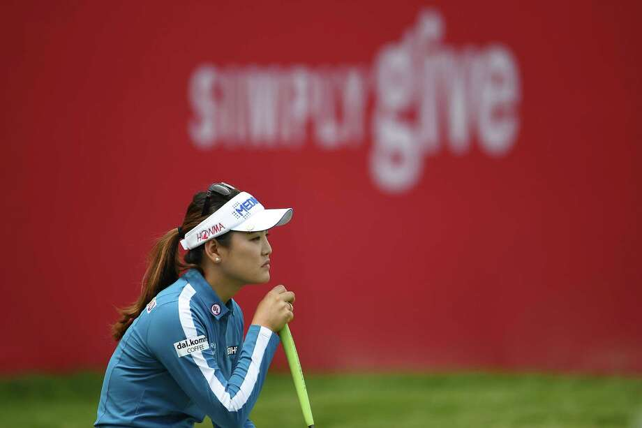 GRAND RAPIDS, MI - JUNE 14:  So Yeon Ryu of South Korea lines up a putt on the 18th green during the first round of the Meijer LPGA Classic for Simply Give at Blythefield Country Club on June 14, 2018 in Grand Rapids, Michigan.  (Photo by Stacy Revere/Getty Images) Photo: Stacy Revere / 2018 Getty Images