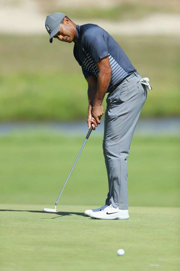 SOUTHAMPTON, NY - JUNE 14:  Tiger Woods of the United States putts on the sixth green during the first round of the 2018 U.S. Open at Shinnecock Hills Golf Club on June 14, 2018 in Southampton, New York.  (Photo by Warren Little/Getty Images) Photo: Warren Little / 2018 Getty Images