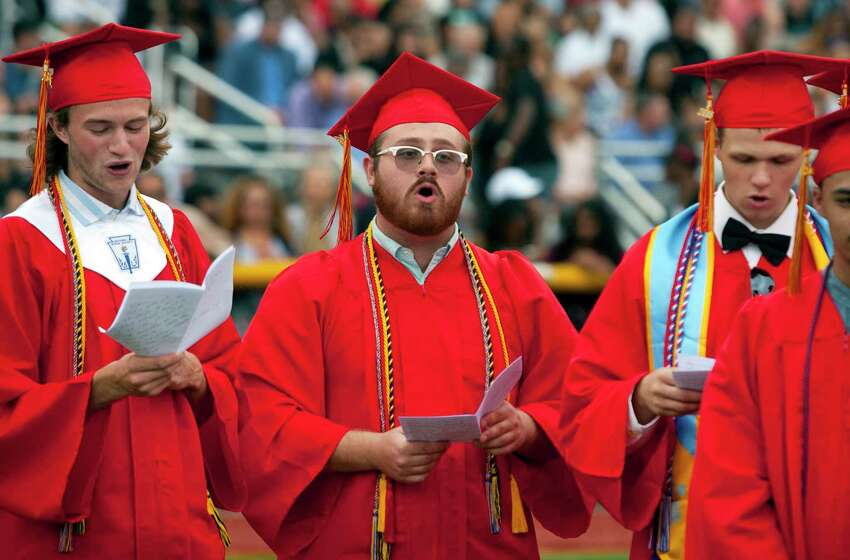 Stratford High School's 129th Commencement in Stratford, Conn., on Thursday, June 14, 2018.
