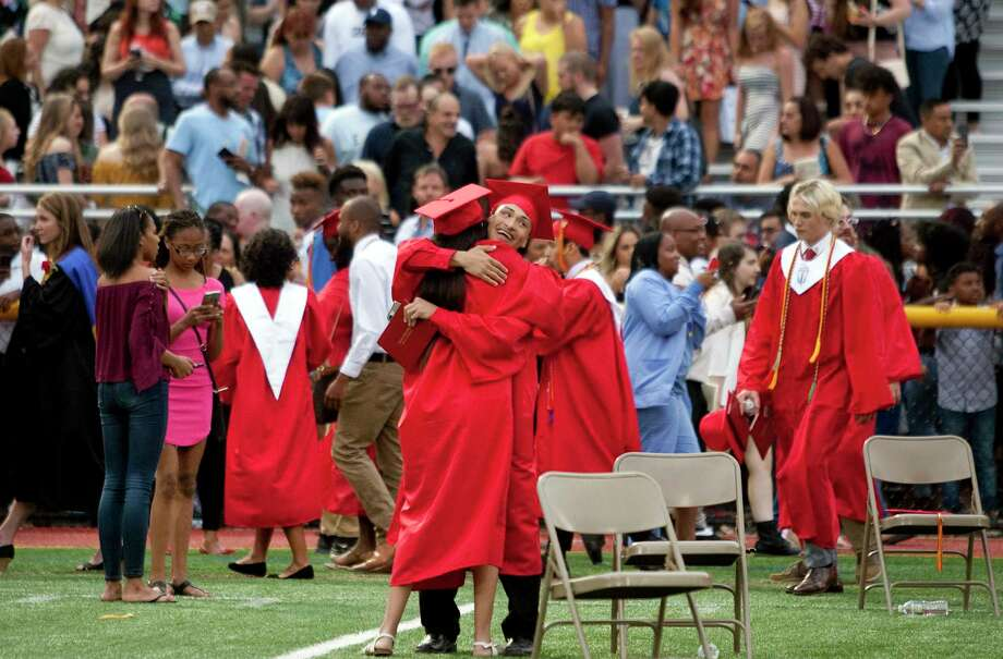 Stratford High School's 129th Commencement in Stratford, Conn., on Thursday, June 14, 2018. Photo: Christian Abraham, Hearst Connecticut Media / Connecticut Post