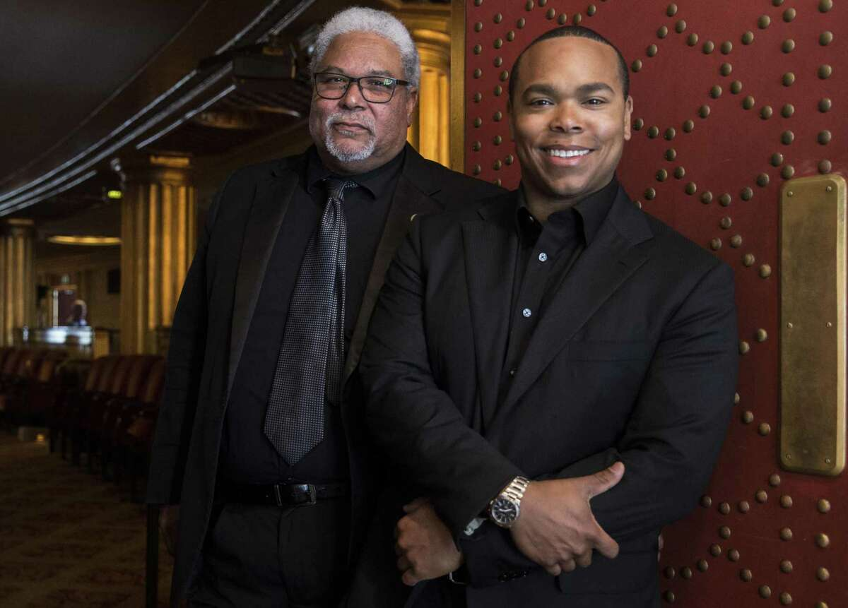 Rufus Olivier Jr. (left), since 1980 the San Francisco Opera Orchestra's first bassoon, and son Rufus David Olivier, who was the second bassoon for three years.