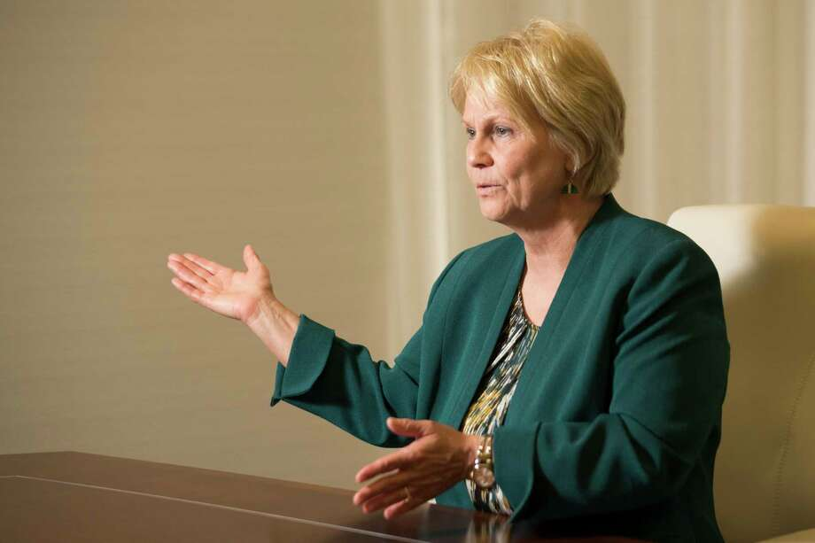 Occidental Petroleum CEO Vicki Hollub, the first woman leading a major American oil company talks about the growth of the company, Monday, June 4, 2018 in Houston.  No. 10 public: Occidental Petroleum Photo: Marie D. De Jesus, Houston Chronicle / © 2018 Houston Chronicle
