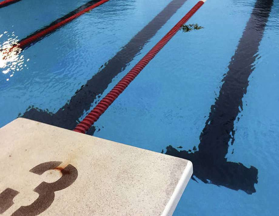 A few scattered leaves were the only things in the water Thursday night at the Summers Port pool after a thunderstorms forced officials to cancel the Summers Port Sharks' SWISA season opener with rival Water Works of Edwardsville. The meet has been rescheduled for July 10 at Summers Port.