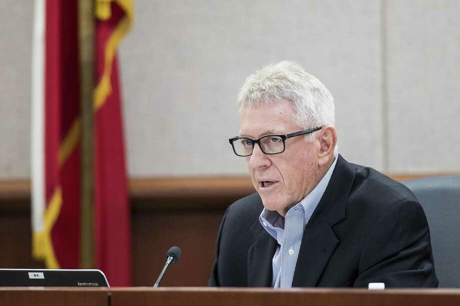 Stuart Snow, associate superintendent, gives the budget presentation during the Cypress-Fairbanks ISD school board of trustees meeting on Thursday, June 14, 2018, in Cypress. ( Brett Coomer / Houston Chronicle ) Photo: Brett Coomer, Staff Photographer / Houston Chronicle / © 2018 Houston Chronicle