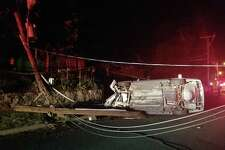 A motorist was extricated from their vehicle late Thursday after smashing into a utility pole on Town Hill Avenue.
