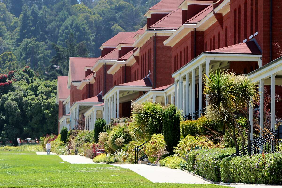 The new Lodge at the Presidio is in the same row of former barracks as the Walt Disney Family Museum.