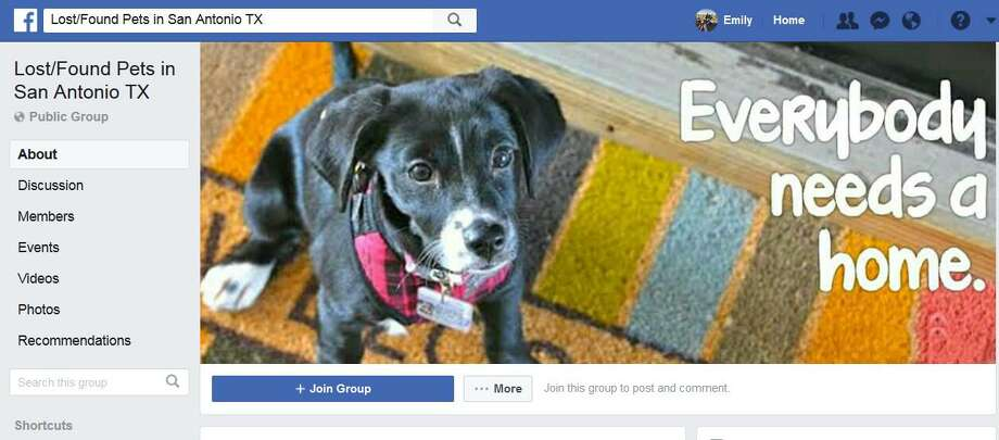 The Facebook page for Lost/Found Pets in San Antonio TX. Photo: Screengrab
