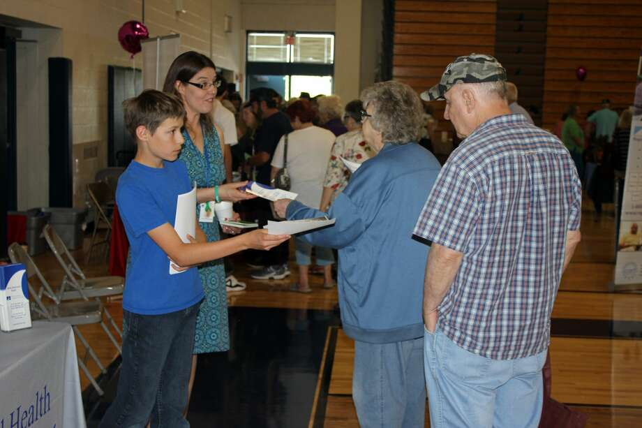 The Huron County Senior Fair was a big hit Friday at Bad Axe High School. Service and healthcare organizations were among those offering freebies and/or gifts. Photo: Brenda Battel/Huron Daily Tribune