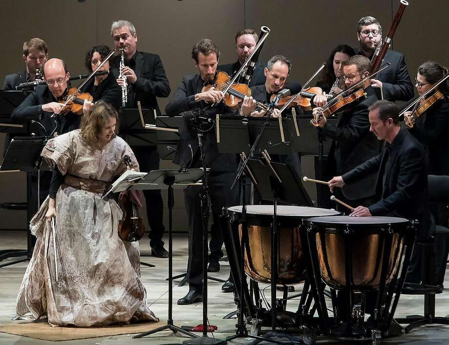 Patricia Kopatchinskaja performs with the Mahler Chamber Orchestra at the Ojai Music Festival. Photo: David Bazemore