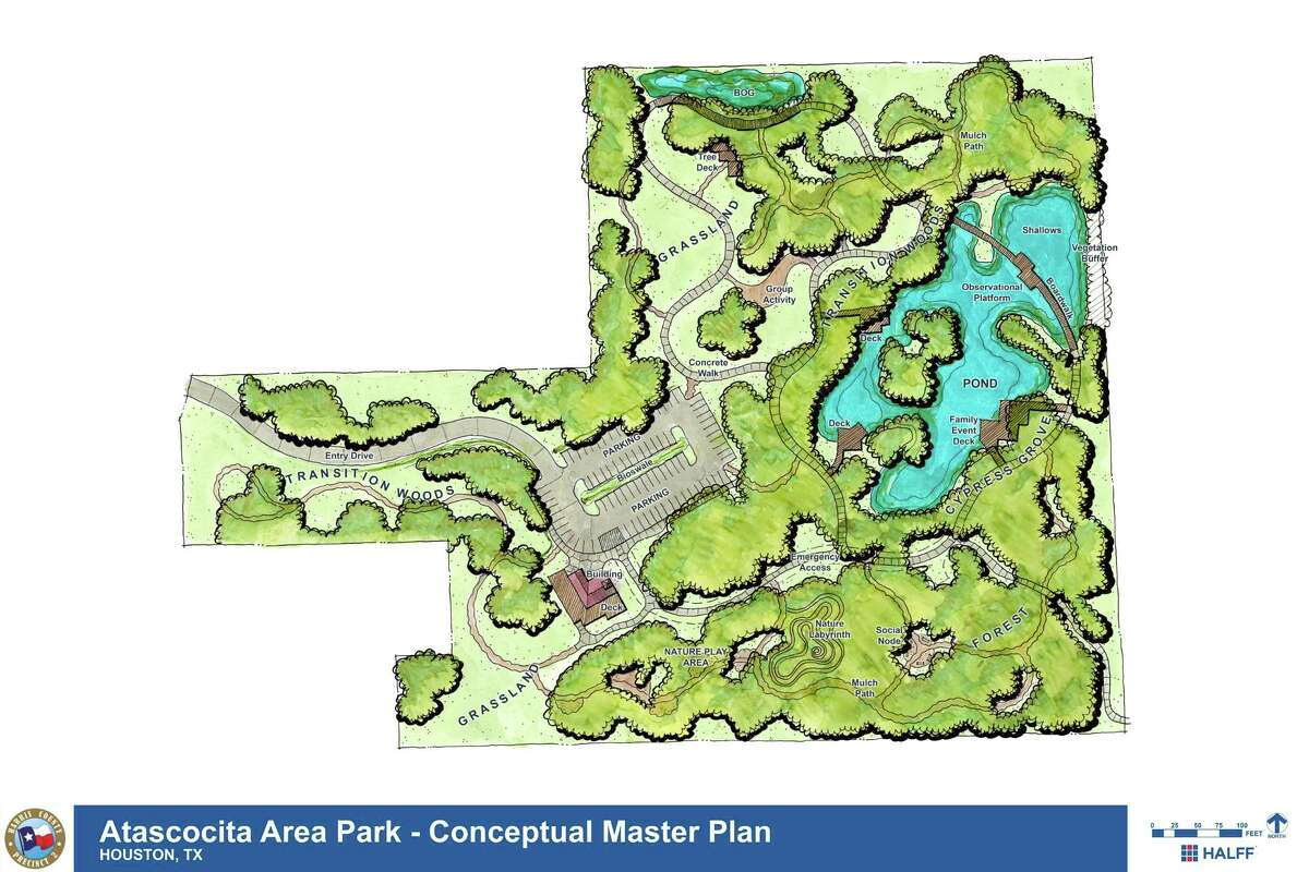 Design of a park planned to be built in Atascocita on West Lake Houston Parkway.