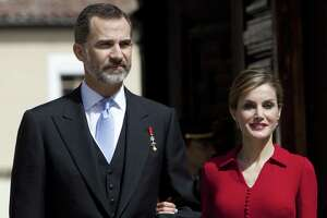 Spain's King Felipe VI and Queen Letizia attend a ceremony at the University of Alcala de Henares in Spain in a 2015 file photo. The king and queen of Spain are coming to San Antonio this weekend as part of the city's yearlong Tricentennial celebration. The royal couple visited New Orleans on Friday and will be in Washington on Tuesday, where they are expected to meet with President Trump.